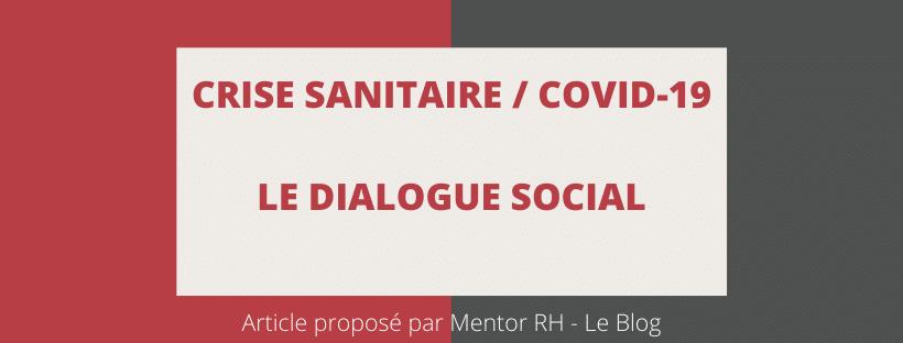 Le dialogue social en période de crise Covid19